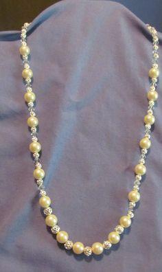 Single strand pearl bead necklace by deeceekaycee on Etsy