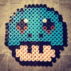 Squirtle mushroom perler beads by mdmbass
