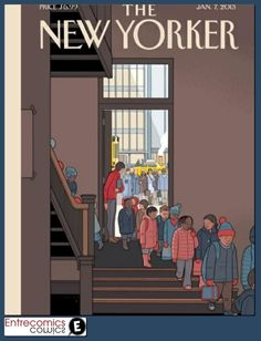 Chris Ware cover illustration and essay on guns, teachers, and the sad plight of our educational system - New Yorker Cover Quiz The New Yorker, New Yorker Covers, Capas New Yorker, Lauren Collins, Chris Ware, Ligne Claire, Beautiful Cover, Magazine Art, Magazine Covers