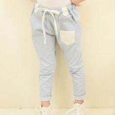 Powder Blue Trousers | Vindie Baby | Vintage Inspired Girls