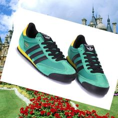 Turquoise,Yellow,Black Adidas Dragon Womens Shoes,HOT SALE!
