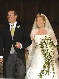Peter Phillips 30, and bride Autumn Kelly 31 | Fabulous royal wedding gowns | The Courier-Mail