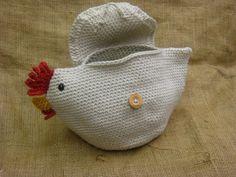 Crocheted chicken clutch