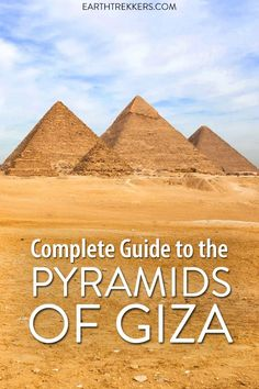 Everything you need to know to visit the Pyramids of Giza, Egypt. Best things to do, when to go, how to get here and get around, is going inside the Great Pyramid worth it, and much more. #egypt #pyramids #pyramidsofgiza #bucketlist