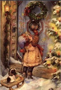 Vintage Christmas Images, Old Fashioned Christmas, Christmas Scenes, Christmas Past, Victorian Christmas, Christmas Pictures, Christmas Greetings, Winter Christmas, Christmas Crafts