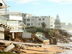 The pool was dislodged after a storm caused the sand underneath it to erode. Picture: John Grainger