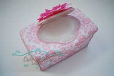 2 Pc Baby Wipe Case Gift Set  Pink and by CutenSassyCreations, $29.00