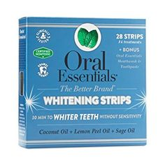 Natural Teeth Whitening Remedies Oral Essentials Teeth Whitening Kit pack of 14 treatments - In one kit, get whitening strips, whitening toothpaste and mouthwash, and a soft bamboo toothbrush to get results. Save up to off with Thrive Market! Teeth Whitening Procedure, Best Teeth Whitening Kit, Teeth Whitening Remedies, Natural Teeth Whitening, Skin Whitening, Young Living, Tooth Sensitivity, Teeth Bleaching, Essentials