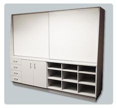The Sliding Whiteboard Unit Can Be Made To Suit Your Requirements. Locking  Cupboards, Tote Tray Storage, Shelves Etc. Ask About Sliding Whiteboard U2026