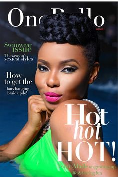Yemi Alade on the swimsuit cover for onobello magazine