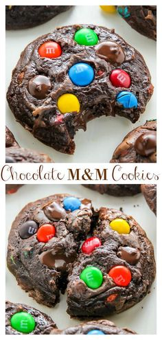 These Soft Batch Chocolate MM Cookies are super fudgy and so decadent! Loaded with MM candies, these chocolate cookies are kid friendly, but also loved by adults. yummy desserts snacks Soft Batch Chocolate M&M Cookies - Baker by Nature Köstliche Desserts, Delicious Desserts, Dessert Recipes, Yummy Food, Food Deserts, Recipes Dinner, Dessert Food, Plated Desserts, Pasta Recipes
