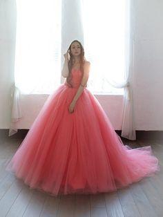 ウエディングドレスショップ シンデレラ(Wedding Dress Shop Cinderella) エアリーで華やかなキャンディーピンクのカラードレス SS5591CP