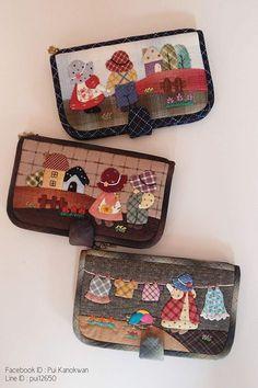 new ideas for patchwork patterns bags ideas Patchwork Quilt Patterns, Patchwork Bags, Quilted Bag, Applique Patterns, Wool Applique, Applique Quilts, Motifs D'appliques, Sue Sunbonnet, Japanese Patchwork