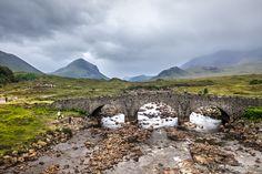 isle of skye in mist and rain - scotland