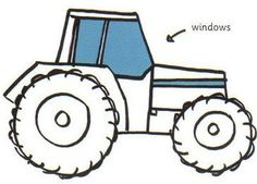 How to draw a tractor.