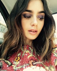 WEBSTA @lilyjcollins Last Paris fashion week had me all shades of happy. It's almost that time again!...