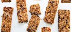 Homemade Almond-Quinoa Energy Bars Are Better than Store-Bought — Tasting Table Healthy Breakfast Snacks, Healthy Homemade Snacks, Healthy Treats, Healthy Deserts, Healthy Cookies, Breakfast Recipes, Healthy Food, Healthy Eating, Healthy Protein Bars