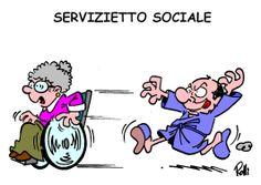 Servizietto Sociale - La vignetta di Rolli sul Secolo XIX dell'11 aprile 2014