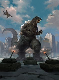 """Godzilla Magic The Gathering Card Art - A unique Godzilla design that feels like a mixture of Classic Showa and Heisei, one that feels like a dual-coin between defender and destroyer wrapped in one. King Kong, Godzilla Wallpaper, Pokemon, Mtg Art, Arte Dc Comics, Monster Cards, Magic The Gathering Cards, Classic Monsters, Celestial"