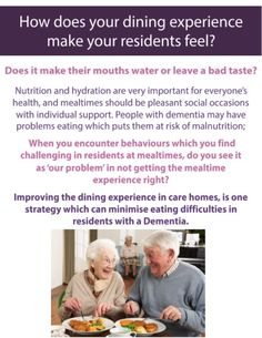 A section taken from our Dignified Dining Solutions Guide which can help you chose the right products to help your residents.