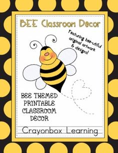 Bee-utiful classroom decor kit from Crayonbox Learning!!!