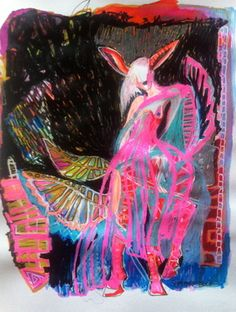 "Saatchi Online Artist Sofi Storm; Drawing, ""mutant"" #art"