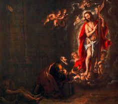 """Juan De Valdés Leal La aparición de Cristo a San Pedro en la prisión. """""""