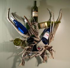 From Sticcellar Carving Co: A Wine Rack Thatu0027s Cool When Empty. I Wouldnu0027