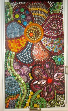 "my back is not up to me making a creative path like this, but this is what I want - Mosaic Art - ""Flowers in Motion"". via Etsy."