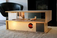 If It's Hip, It's Here: Qubis - Amy Whitworth's Modern Doll Houses That Double As Furniture.
