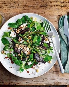 This autumnal salad recipe combines earthy beetroot, tangy goat's cheese and hazelnuts – a simple, yet effective starter for a dinner party. Salad Recipes Healthy Vegetarian, Vegetarian Christmas Recipes, Fruit Salad Recipes, Goats Cheese Starter, Goats Cheese Risotto, Goat Cheese Recipes, Delicious Magazine, Food For A Crowd, Beetroot