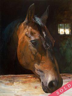 Квакертаун лошадь Джули Белл | Коневодство Живопись | печать имеющиеся