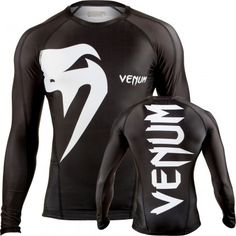 Venum Giant Long Sleeve Mens Rash Guard Black