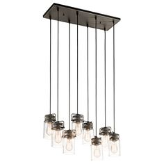 For Island - Would need to check on height flexibility - 8 light Pendant (42890OZ) in Olde Bronze | Brinley