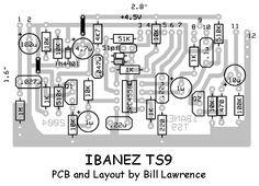 Ibanez TS9 Screamer layout