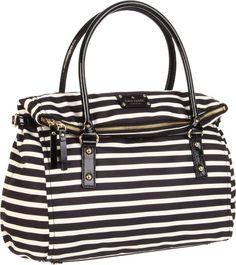 Kate Spade New York Nylon Stripe Leslie Satchel- my next purse will be a kate spade   love this