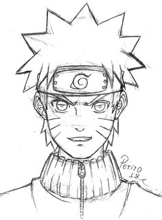 Otaku Anime, Anime Naruto, Chica Anime Manga, Naruto Uzumaki, Naruto Sketch, Naruto Drawings, Anime Sketch, Cool Drawings, Boy Drawing