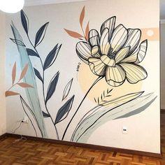 Wall Painting Decor, Mural Wall Art, Black Wall Decor, Organic Art, Murals Street Art, Wall Drawing, Colorful Drawings, Wall Design, Art Inspo