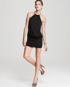 Laundry by Shelli Segal Jersey Blouson Halter Dress | Bloomingdale's