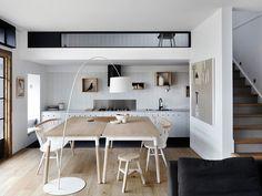 Cozinha com linhas estilizadas