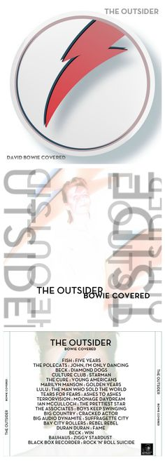 The Outsider: Bowie Covered CD cover design http://honeypotdesigns.blogspot.co.uk/search/label/David%20Bowie