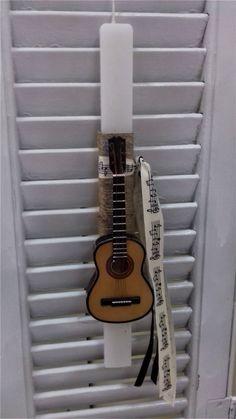 Λαμπάδα με κλασσική κιθάρα   Χειρο-ποιηματάκια Guitar, Candles, Easter Ideas, Music, Candle, Musica, Musik, Candy, Muziek