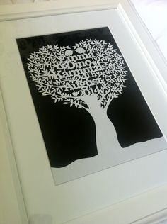 Tree papercut. Designed by me.