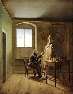 Georg Friedrich Kersting (German, 1785–1847) Caspar David Friedrich in His Studio, 1811 Oil on canvas; 21 1/4 x 16 1/2 in. (54 x 42 cm) Hamburger Kunsthalle