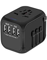 Upgraded Universal Travel Adapter Castries All in one Worldwide Travel Charger Travel Socket International Power Adapter with USB Ports AC Plug for Over Countries Travel Accessories Black Travel Items, Travel Gadgets, Travel Products, Dubai, Thing 1, Worldwide Travel, Travel Accessories, Charger, Usb