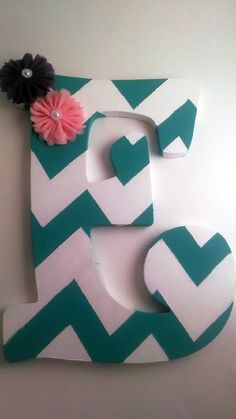 Wood nursery letter monogram letter nursery decor by EnglishBliss, $18.00