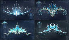 Magic diadems (winter set) by Rittik-Designs