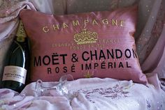 want to make/ own this pillow, maybe veuve cliquot instead