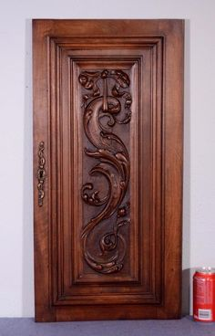French Antique Louis XVI Panel/Door in Solid Walnut Wood (K) Wooden Door Design, Wooden Doors, Dark Walnut, Walnut Wood, Louis Xvi, Panel Doors, Cabinet Doors, French Antiques, Gemini