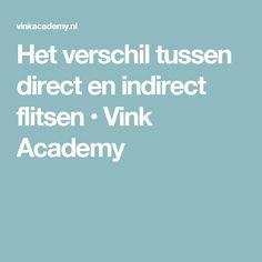 Het verschil tussen direct en indirect flitsen • Vink Academy